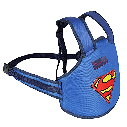 Magic Seat- Two Wheeler/Bike/Scooter Child/Kids Safety Seat Belt/Kids Carrier Protection When Travelling on Two Wheelers (Blue-Superman)