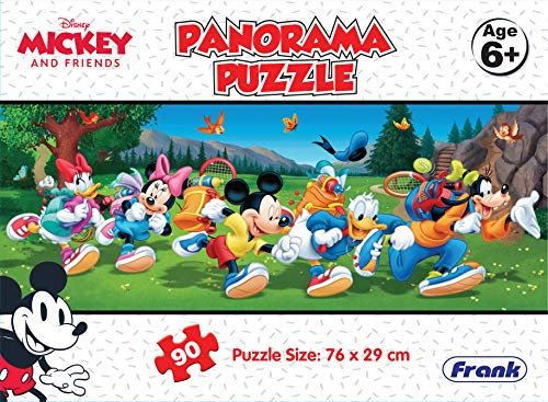 Frank Disney Mickey Mouse and Friends 90 Piece Panorama Jigsaw Puzzle for Kids for Age 6 Years Old and Above