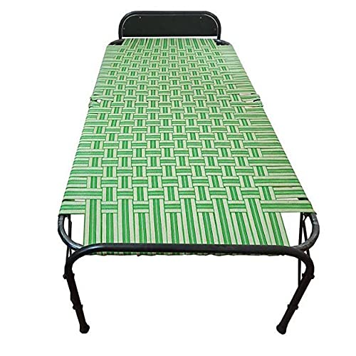 AARAM CHARPAI UDYOG Niwar Folding Bed Single Small Size (36 X 72 Inch) | Portable Bed (Single, Pillow Support)