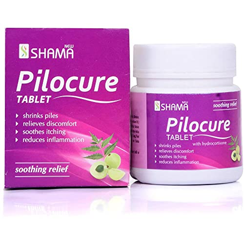 New Shama Pilocure Tablet ( 60tab PACK OF 3 ) comes with shandaar Rose Water