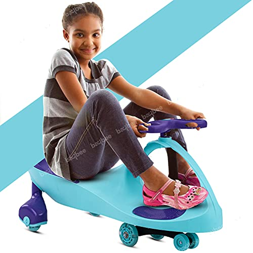Baybee Unicorn Swing Cars for Kids-Strongest & Smoothest Twister-Magic Car Ride ons for Kids with PU Wheels-Kids Push car for Kids Babies Suitable Age 2 Years and Up Boys and Girls