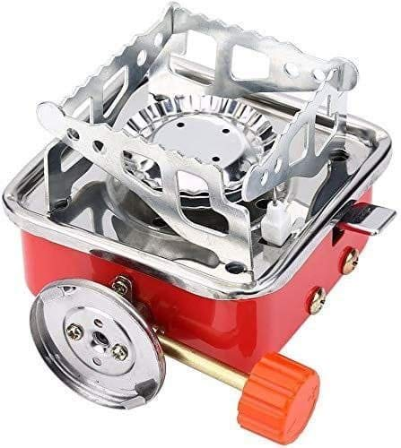 Store Portable Picnic, Camping Stainless Steel Gas Stove Ultra Light Folding Furnace Outdoor Metal Camping Gas Stove Picnic Cooking Gas Burners Folding Stove With Storage Bag (Orange)