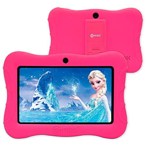 Contixo IZI V9 2GB RAM 32 GB ROM 7 Inch Kids Tablet, Android 10 Operating System, Educational Kids, Parental Control Pre Installed Learning Game Apps WiFi Bluetooth Tablets for Kids 6+ Age (Pink).