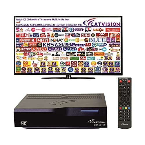 Catvision Advanced 2 in 1 Set Top Box with Mobile Cast to Television from Android Phones/Tablets | HDMI Connectivity