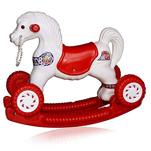 Shopme store Trending Baby Horse Rider for Kids 1-5 Years Birthday Horse Rider Horse 2-in-1 Rocker Cum Ride-On Toy for Kids Ride on & Wagons Non Battery Operated Ride (Multi-Color)
