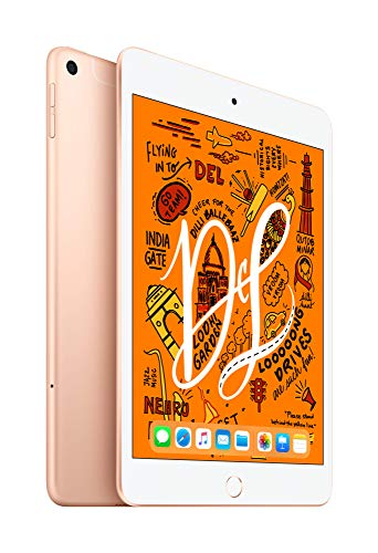 2019 Apple iPadMini with A12 Bionic chip (7.9-inch/20.1 cm, Wi‑Fi + Cellular, 64GB) - Gold (5th Generation)