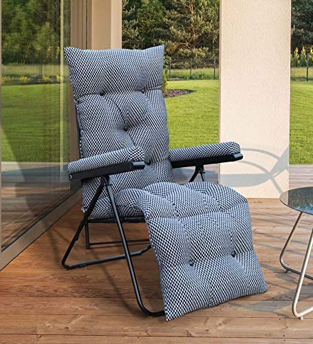 Spacecrafts Recliner Folding Easy Chair for Home Relax (Grey)