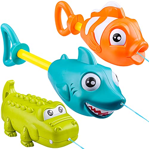 JOYIN 3 Pack Animal Character Water Guns for Kids, Water Blaster Squirt Guns and Pump Super Water Soakers for Kids & Toddlers Summer Swimming Pool Beach Sand Outdoor Water Activity Fighting Play Toys