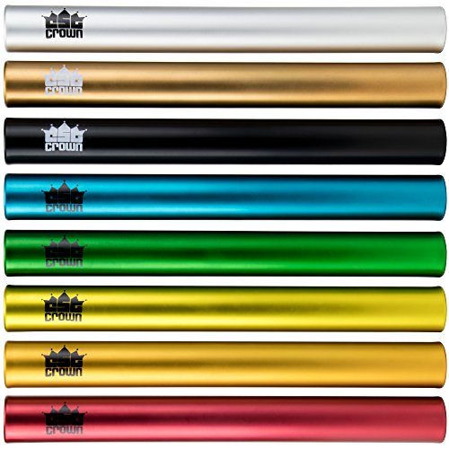 Standard Junior-Size Aluminum Track & Field Relay Batons-Set of 8 by Crown Sporting Goods