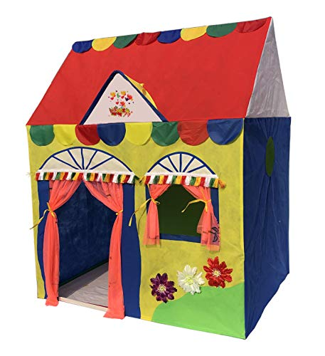 Homecute Hut Type Kids Toys Jumbo Size Play Tent House for Boys and Girls (Multi Colour)