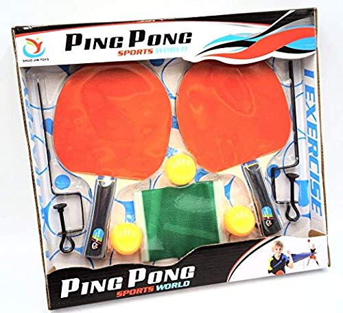 Curtis Toys Ping Pong/Table Tennis Set (2 Rackets and 3 Balls)