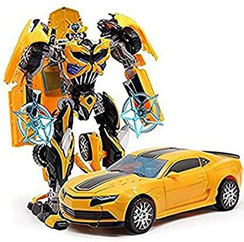 Minor Robot to Car Converting Transformer Toy for Kids (Yellow) -N79