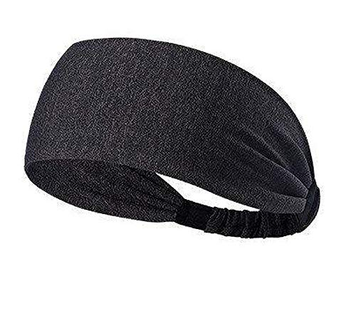 Skudgear Yoga Sport Athletic Headband Sweatband For Running Sports Travel Fitness Elastic Wicking Non Slip Style Band and Basketball Headbands Headscarf fits (Dotted Black)
