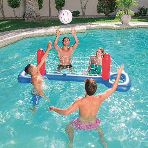 NHR Bestway Inflatable Pool Float Set Volleyball Set with Net and Ball (244 x 64cm , Multicolor)
