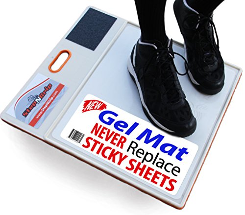 StepNGrip Courtside Shoe Grip Traction Mat - Newest Sticky Mat - Never Needs Sheets, Allows Court Grip for Basketball Volleyball. Sticky Stop Power
