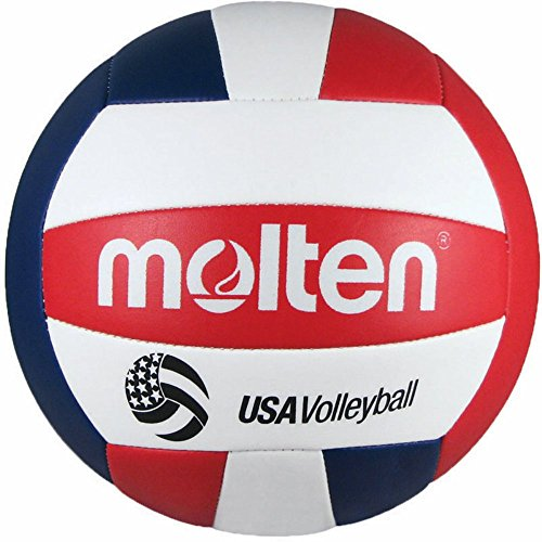 Molten Camp Recreational Volleyball, Red/White/Blue