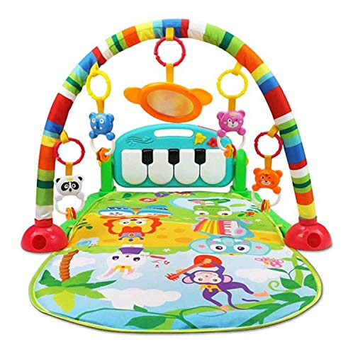 MPH Enterprise Kid New Toy Kick and Plaay Musical Keyboard Mat Piano Baby Gym and Fitness Rack (Assorted Colour)
