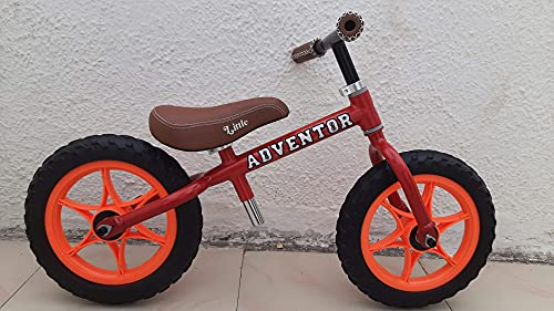 Adventor Balance Bike with Plastic Wheels for Kids Ages 2-5 Years (red)