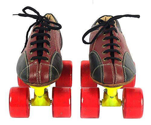 Toyshine Leather Skate Shoes with Carry Bag (Size 3) for Seniors SSTP
