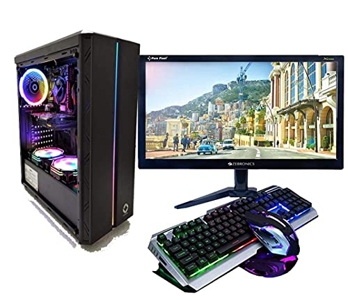 CHIST Intel Core i7-Gaming PC (16 GB RAM/1 TB Hard Disk/240 GB SSD Capacity/Windows 10 Pro GT 710 2GB  WiFi  19.5 Inch LED Screen Gaming Keyboard-Mouse)