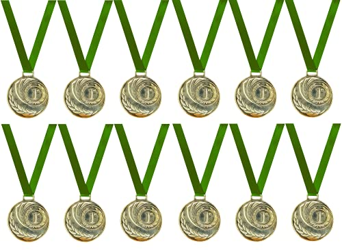Be Win Mild Steel Sports Medal/Event Medal Size-2'' Inches Dia (Gold, Set of 3 Pcs)