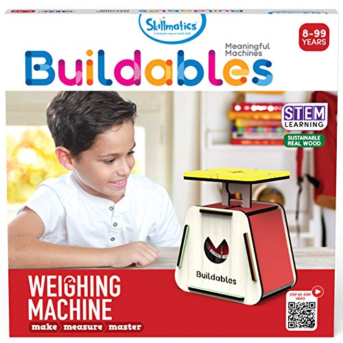 Skillmatics STEM Building Toy : Buildables Weighing Machine | Gifts for Ages 8 and Up | Fun Learning & Creative Activities