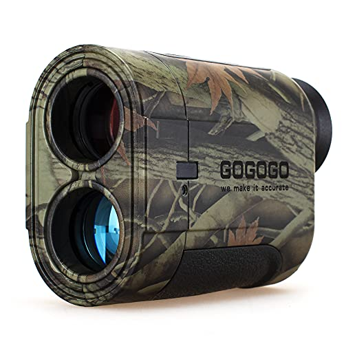 Gogogo Sport 6X Hunting Laser Rangefinder, Range Finder Distance Measuring Outdoor Wild 650/1200Y with Slop High-Precision Continuous Scan (1200Yard)