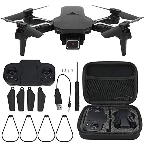 Foldable GPS Drones,Mini Folding Drone with 4K Camera 2.4GHz Frequency for Adults WiFi FPV Altitude Hold Quadcopter Remote Control Drone Toy with Auto Return Home(Dual Camera)