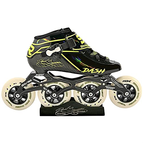 Simmons Rana Racing 4 x 90 Dash Inline Speed Skates Complete Package (Black-Red, 3)