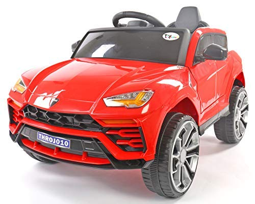 Toyhouse Dazzling Lambro SUV Rechargeable Battery Operated Ride-on car for Kids ( 2 to 5yrs ), Red