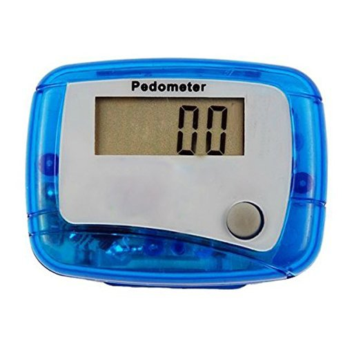 WorldCare® Outdoor Sports LCD Digital Pedometer Walking Running Distance Counter Color Blue