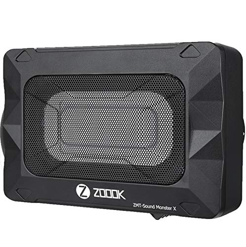 Zoook Moto69 Monster X 180 Watts RMS or 1800 Watts PMPO Underseat 8' x 5' Car Subwoofer with Inbuilt Amplifier (Black)