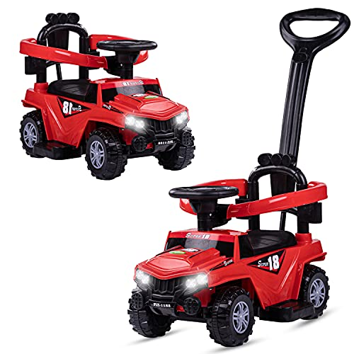 GoodLuck Baybee Kids Power Wheel Ride On Jeep Push Car for Toddlers Baby Jeep Toy Children Rider & Infant Baby Jeep Toys | Kids Suitable for Boys & Girls- Blue (1-3 Years) (Red)