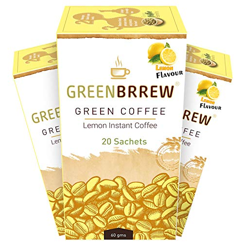 Greenbrrew Instant Green Coffee For Weight Loss Pack Of 3 (Lemon) - Easy To Use