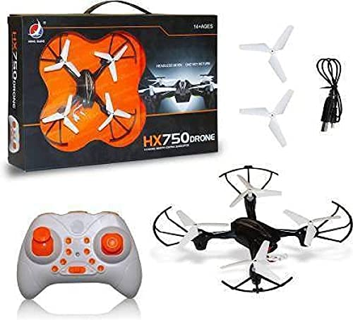 RKP™ HX750 Drone 2.4 Ghz 6 Channel Remote Control Quadcopter Without Camera for Kids- Black