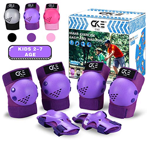 CKE Kids Knee Pad Elbow Pads Guards for Boys Girls 2-7 Year Old Kids Protective Gear Set for Skating Cycling Bike Rollerblading Scooter