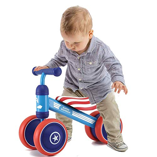 Hapsters Baby Balance Bikes, Baby Scooter, Toddler Bike Ride Toys for 1 Year Boys Girls No Pedal 4 Wheels Baby First Birthday Gift Bike