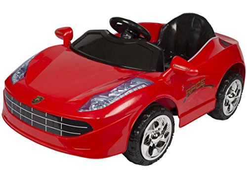 Toyhouse Battery Operated Sporty Car Ride On for 2 to 5 Years Kids, Red