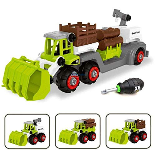 FunBlast DIY Plastic Toy Vehicles Set - Assembly Toy Farm Truck Construction Set, Building Vehicle Play Set with Screwdriver, Toy for 3+ Year Old Boys,Kids,Girls (Multicolor)