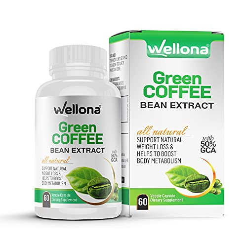 Wellona Pure Green Coffee Beans Extract - 60 Capsules (800mg) Weight Management Product for Men and Women