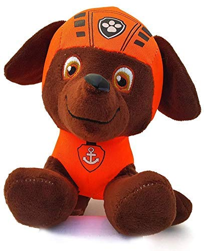 beecow Soft Stuffed Plush Cartoon Character PAW Patrol Action Figure Toy for Kids, Multitoys 21 cm (Zuma Paw Patrol)