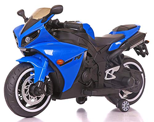 Nexus Product Toy School R1 Bike Rechargeable Battery Operated Ride on for Kids| Electric Bike [3 to 8 Years, Large, Blue]