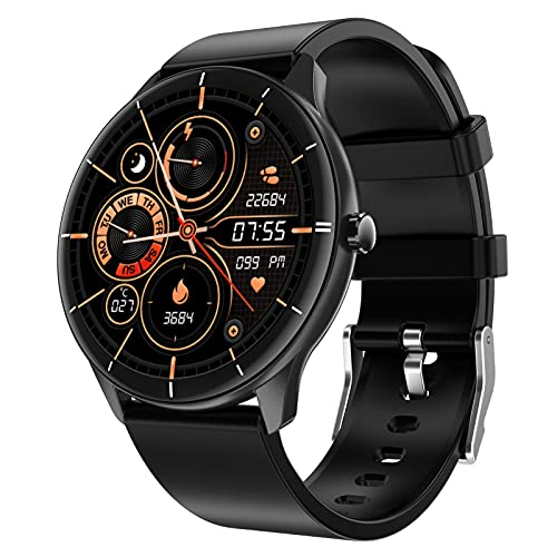 Decdeal Smart Watch Fitness Tracker with Heart Rate Monitor Blood Pressure Blood Oxygen Notifications Messages Tracking Fitness Watch for Women Men Compatible with Android iOS