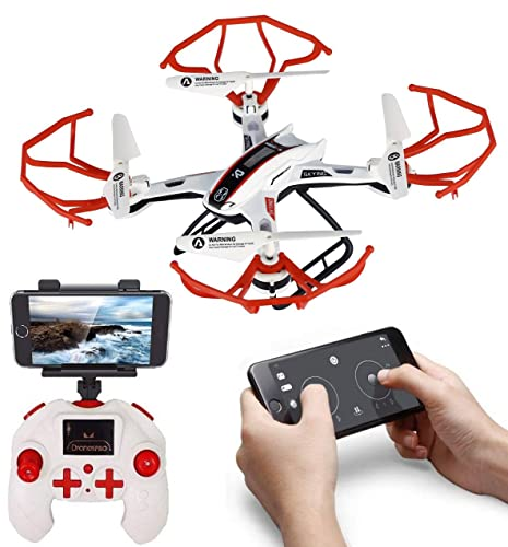 SUPER TOY 360p Drone with HD Camera Wi-Fi, Altitude Hold, One Key Return and Flip Stunts