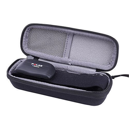 Aenllosi for Polar Heart Rate Sensor/Monitor/ Fitness Tracker Chest Strap Hard Case fits H7/H10/Wearlink (Black)