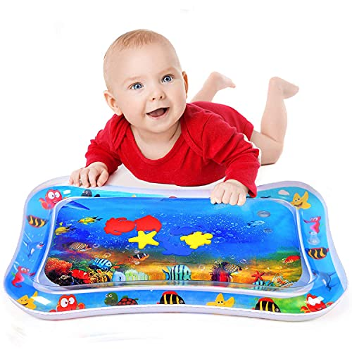 SHOPPOSTREET Baby Kids Water Play Mat Toys Inflatable Tummy Time Leakproof Water Play Mat, Fun Activity Play Center Indoor and Outdoor Water Play Mat for Baby (Regular)