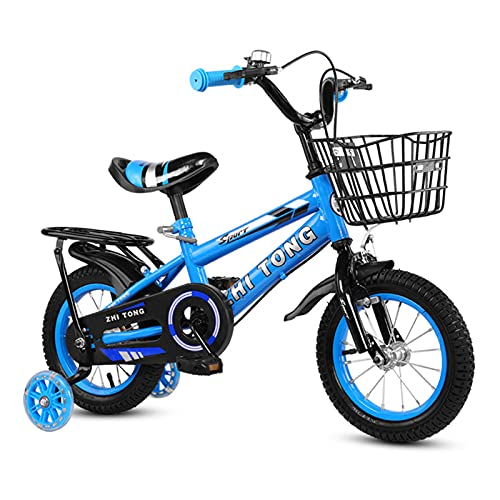 Decdeal 12/14/16 Inch Children Bike Boys Girls Toddler Bicycle Adjustable Height Kid Bicycle with Detachable Basket for 2-7 Years Old