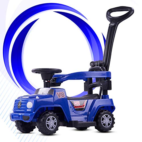 GoodLuck Baybee Baby Power Wheel Ride On Jeep Push Car for Toddlers Baby Jeep Toy Kids Rider & Baby Jeep   Kids Suitable for Boys & Girls - Blue (1-3 Years)