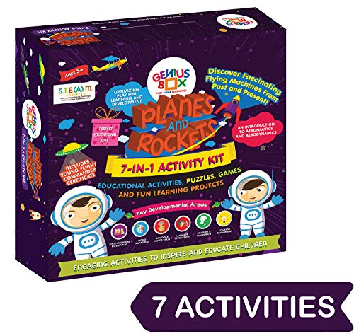 Genius Box Learning STEM Toy for 5+ Year Age: Planes and Rockets DIY,Activity Kit, Learning Kit, Educational Kit