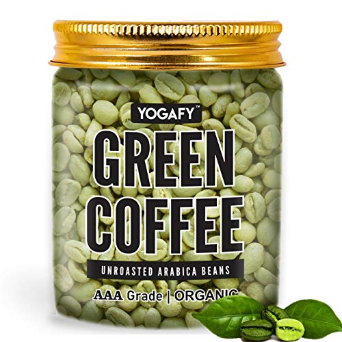 YOGAFY- Organic Green Coffee Beans - 300 Gram   For Weight Loss Management and Detox   AAA Grade 100% Unroasted Arabica Beans  